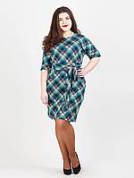Батальное платье с поясом - 985