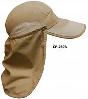 Кепка Favorite CP-260B, с защитой хаки 100% nylon