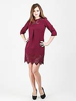 Платье с перфорацией на полочке - 974