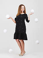 Милое платье с рюшой -953-1