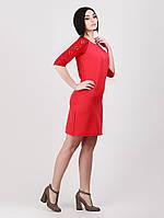 Платье с гипюровыми рукавами - 964