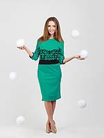 Роскошное платье с флоком - 942