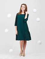 Однотонное платье с жемчугом - 946-1