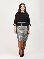 Интересное платье с баской - 937