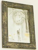 Картина в подарок «Кот под дождем»