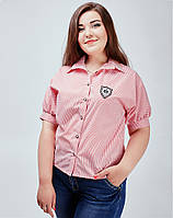 Блуза с рукавами фонарики - 844