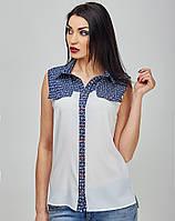 Женская рубашка на кнопках - 786