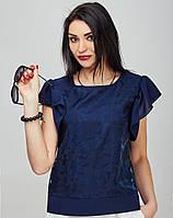 Женская блуза с воланами- 804