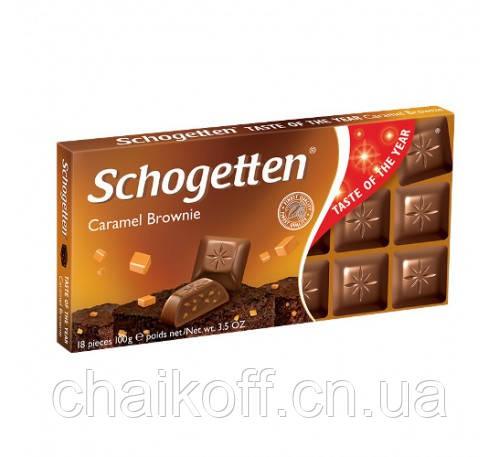 Шоколад Schogetten Caramel Brownie 100 г (Германия)