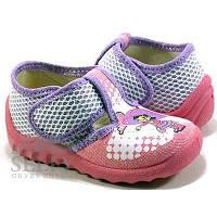Тапочки Валди для девочки Даша, розовые сетка