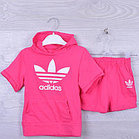 """Костюм детский """"Adidas"""" для девочки. 92-116 см рост. Розовый. Оптом."""