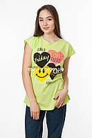 Женская футболка с принтом Girls цвет салатовый p.48-50 Senrise SS43-1