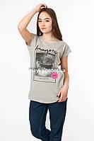 Женская футболка с принтом Imagine цвет серый p.46-48 Senrise SS44-1