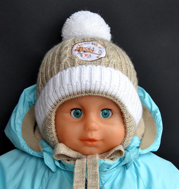 Шапочка детская Самолетик (зима)