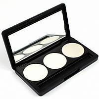 Набор теней для век 3 цвета Beauties Factory Eyeshadow Palette #24 - TECHNO SILVER, фото 1