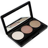 Набор теней для век 3 цвета Beauties Factory Eyeshadow Palette #03 - BRICK