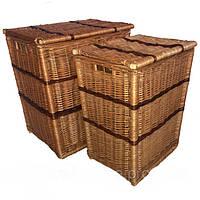 Набор корзин для белья из цельной лозы