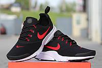 Мужские кроссовки Nike Air Presto Fly Uncaged, черно красные / кроссовки мужские Найк Аир Престо Флай Ункагед