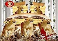 Комплект постельного белья 2-х спальное 3D Львы