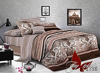 Бежевое постельное белье комплект 2 спальный Каньйон