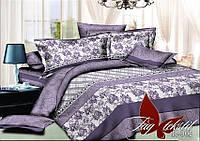 Сиреневый комплект постельного белья 2-х спальный Аридан