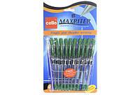Ручка шариковая CELLO Maxriter зелёная