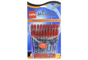 Ручка CELLO MAXRITER шариковая  красная