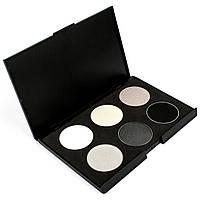 Набор теней для век 6 цветов Beauties Factory Eyeshadow Palette #02 - BLACK & WHITE