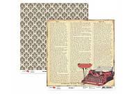 Бумага для скрапбукинга Heritage 3, двухст., 30,5х30,5см, 180г/м2,  ROSA Talent