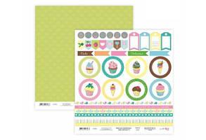 Бумага для скрапбукинга Cake delicious 6 двухст.30х30см, 200г/м2, ROSA TALENT