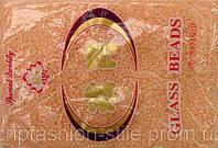 Бисер мелкий 450грм в упаковке, цвет светлый-персик