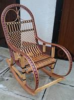 Кресло-качалка из лозы Код 964