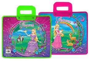 Портфель с пластик. ручками 30*34см KIDIS  Princess world