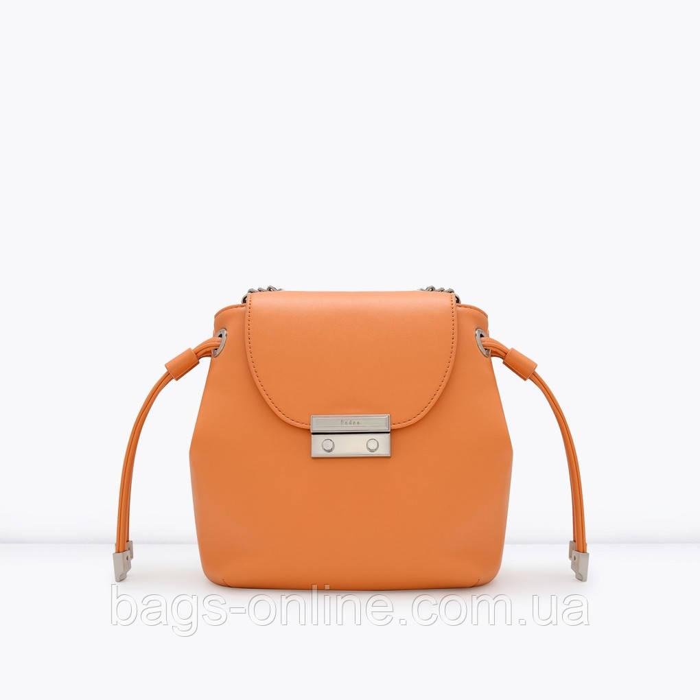 fc2bb9513ad7 Стильная оранжевая сумка-мешок, цена 2 338 грн., купить в Киеве ...