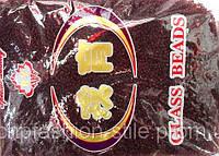 Бисер мелкий 450грм в упаковке, цвет бордовый-стекло