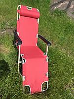 Шезлонг (Кресло) 100х65х170 (ВхШхД) красный, фото 1