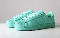 """Кроссовки Adidas Superstar Supercolor """"Mint"""" Арт. 1028"""