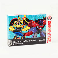 Краски пальчиковые, 6 цветов по 35 мл, Transformers, Kite, TF17-064, 34307