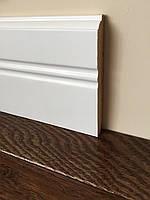 Белый высокий плинтус деревянный Колониальный 12 см