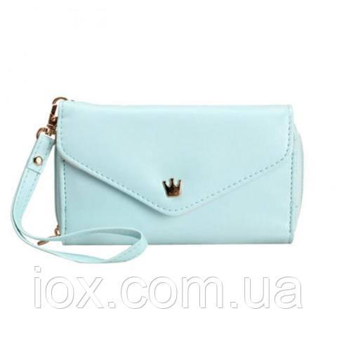 Голубая чехол-сумочка-кошелек