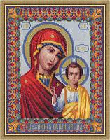 """Набор для вышивки крестом """"Panna"""" Казанская икона Богородицы ЦМ-0809"""