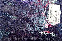 Бисер мелкий 450грм в упаковке, цвет темно-синий-серебро