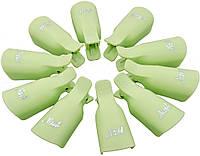 Зажим для ногтей MirAks CP-3609-10 Light green (Салатовый/пластик/многоразовая/10 штук)