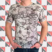 Стильная футболка с принтом DSQUARED - 0216 темно-серый