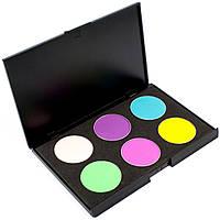 Набор теней для век 6 цветов Beauties Factory Eyeshadow Palette #09 - MATTE DELIGHT