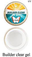Моделирующий 3-фазный гель F.O.X Builder gel UV (прозрачный)15 мл