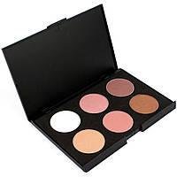 Набор теней для век 6 цветов Beauties Factory Eyeshadow Palette #03 - EARTH, фото 1