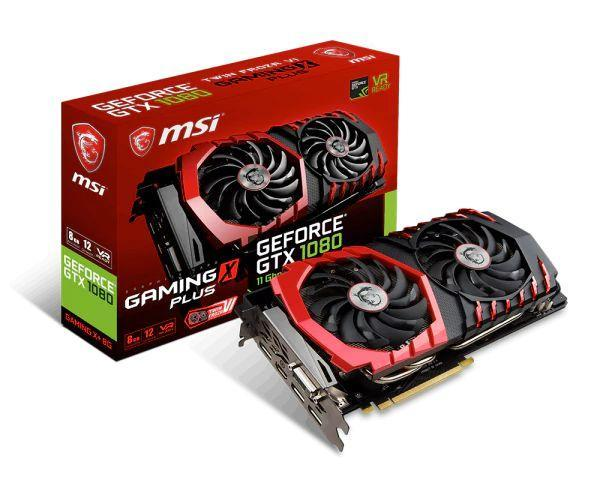 Видеокарта MSI GeForce GTX 1080 GAMING X+ 8G