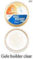 Моделирующий гель-желе F.O.X Gele builder gel UV (прозрачный)15 мл