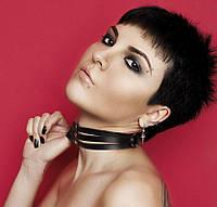 Чокер, чокер на шею с оригинальным дизайном. Натуральная кожа. Розница, опт в Украине., фото 1